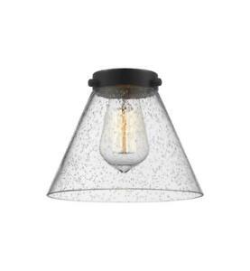 "Genuine NIB Innovations Lighting Replacement G44 Large 8"" Seedy Cone Shade Glass"