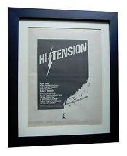 HI TENSION+British Hustle+POSTER AD+RARE+ORIGINAL+1978+FRAMED+FAST GLOBAL SHIP