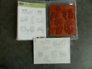 Stampin' Up Baby We've Grown rubber stamp set, used