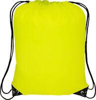 Drawstring Bag Sack School PE Swim Gym Boot Child Shoes New Waterproof Plain