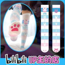 Overwatch OW Anime Game D.VA Socks Bunny velvet Stockings Knee-high Socks Cute