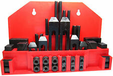 RDGTOOLS 52PC 16MM T-SLOT CLAMPING KIT WITH 14MM STUD CLAMPS STEP BLOCKS T NUTS