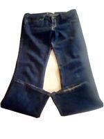 *Levi's 518 Superlow Jeans Womens Measures 36 x 31 Dark Wash EUC