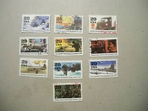 USA Used, 1994 Issue, 1944-World War II (Set of 10)