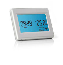 Touchscreen Programmable Thermostat for Electric Underfloor Heating - Silver