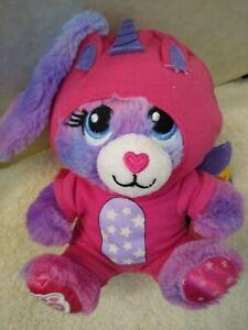 "Build a Bear Buddies Stars Glow Bunny with unicorn suit 7"" Stuffed Toy all nwt"