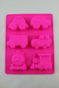 Train Car Bus Silicone Mould Cake Bakeware Melts Ice Cube Chocolate Candle Jelly