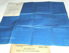 """VINTAGE WESTERN RAILROAD SUPPLY CO. BLUEPRINT-""""DO NOT STOP ON TRACKS""""SIGNED:1949"""