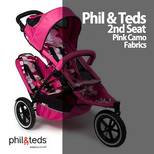 New Original Spare - PHIL AND TEDS Sport 2nd SEAT Fabric Pack - PINK CAMO