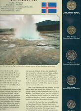 Coins from Around the World Iceland 5 coins 1999-2005 Bu Unc 100 Kronur 1995