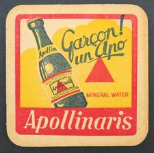 Ancien Sous-bock bière APOLLINARIS carré beermat coaster Bierdeckel 13