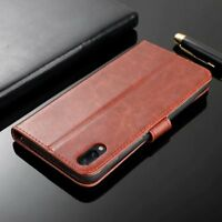 For Vivo V11 / V11 Pro Luxury Flip Leather Wallet Card Slots Soft TPU Case Cover