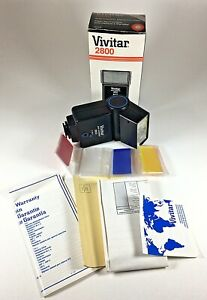 Vintage Vivitar 2800 Auto Thyristor Electric Camera Flash with original Box NOS