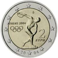 2 euro Grecia 2004 Olimpiadi di Atene