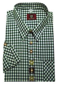 Orbis Trachten Hemd khaki grün weiß +Stick Krempelarm Forst Jagd OS-0108 Regular