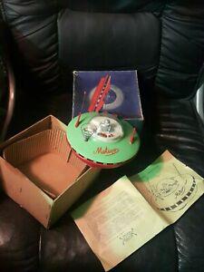 VINTAGE SPACE TOY SAUCER METEOR 70s BATT. OPER. ORIG. MANUAL + BOX POLAND PALARD