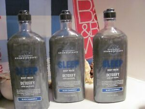 Bath and Body Works 3 Aromatherapy ~SLEEP~ Black Chamomile Detox Body Wash
