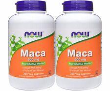 2 Packs - Now Foods, Maca 500 mg, 250 Veggie Capsules