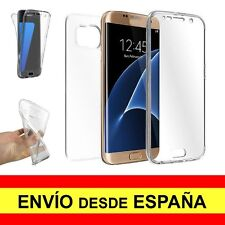Funda Doble Transparente para SAMSUNG GALAXY S7 EDGE Carcasa Gel TPU a2274