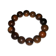 Natural Scent 14mm High Quality Dark Oud or Aloeswood Bracelet Elastic String