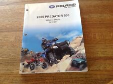 OEM Polaris 2005 Predator 500 ATV Service Manual PN: 9919514 Includes CD