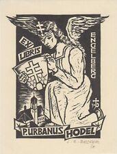 Ex-libris Urbanus HODEL par Louis-René BECKER - Engelberg (Suisse) - 1970.