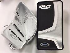 SPECIAL New ice hockey goalie blocker/catcher junior goal glove set black silver