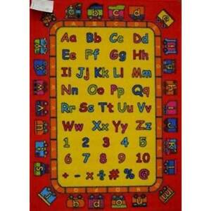 New Children's Rug Activity Learning Play Mat ABC Trains 94cm x 133cm
