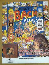 Skid Row SEBASTIAN BACH 1998 Retail PROMO POSTER for Bring Em Alive CD MINT USA