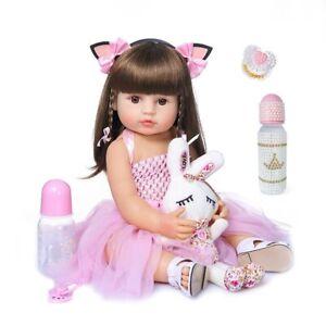 "22"" Reborn Baby Dolls realistic Toddler Silicone Handmade Alive Newborn KidsGift"