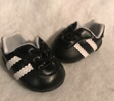 """American girl doll Black And White Soccer Shoes Cleats For 18"""" Doll"""
