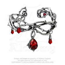 Alchemy - Passion - Pewter and Swarovski Crystals Bangle Bracelet