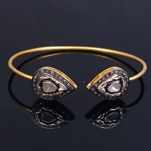 Stylish And Fanciable Designer Bangle Sterling Silver 925 Polki Diamond Bangle