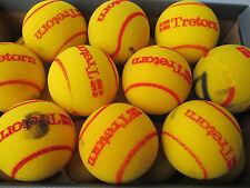 10 Used TRETORN Oversize Cut Foam Mini Tennis Balls - for Children/Practice etc