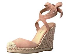 NWOB Women's Ivanka Trump 'Winikka' Rose Suede Espadrille Wedge Sandals Sz 7.5M