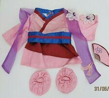 Build-A-Bear Disney Princess Dress MULAN kimono clothes outfit costume VHTF