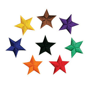 Star Patches, Achievement Martial Arts, Rank Promotion Patch, Karate TKD Iron-on