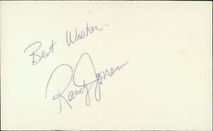 Randy Jones San Diego Padres Signed 3x5 Card Debut 1973 Cy Young