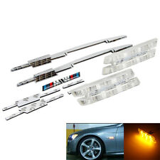 FOR BMW 3 SERIES F30 E90 E91 E93 E46 1998- SMOKED/AMBER LED SIDE REPEATER LAMPS