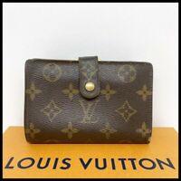 Authentic LOUIS VUITTON French Kisslock Monogram Wallet Coin Purse xx230