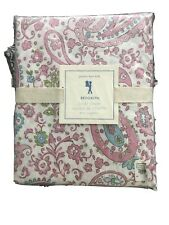 Pottery Barn Kids Brooklyn Pink Paisley Floral TWIN Duvet Cover  NEW