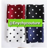Fashion Silk scarf Polka Dot Square Head Scarf Hairband Handkerchief Black White