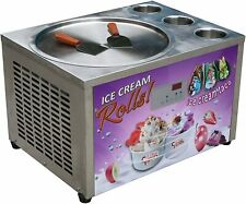 Kolice Countertop 45cm round pan with 3 tanks fried ice cream roll machine