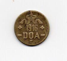 D.O.A.TANGANYIKA 1916 EMERGENCY TABORA  TWENTY HELLER BRASS COIN TYPE B-B DOA112