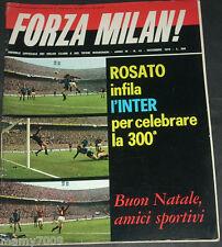 FORZA MILAN!=N°12 1972=MILAN-LEGIA VARSAVIA 2-1=RIVERA=CESARE MALDINI=P.BELLI
