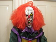 Evil Clown Costume With Accessories. Masks,Jumpsuit XL,Gloves,Shoes,Knife