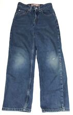 Boys Levi 550 Blue Jeans Relaxed Fit Distressed Size 10 Slim Denim Levis