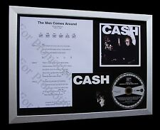 JOHNNY CASH Man Comes Around LTD TOP QUALITY CD FRAMED DISPLAY+FAST GLOBAL SHIP!