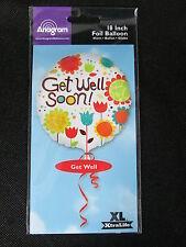 Get Well Soon Balloon 18 inch flowers foil mylar Anagram