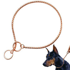 Rose Gold Dog P Choke Collar Slip Chain Check Collar Pet Show Collar Training